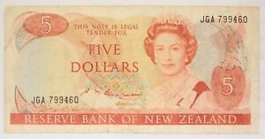 New Zealand - 1981 to 1992 - 5 Dollar - P-171b (Issued 1985) - Economical Grade