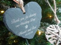 Heart shaped slate stone GIFT for MOTHERS day.Personalised engraved lettering