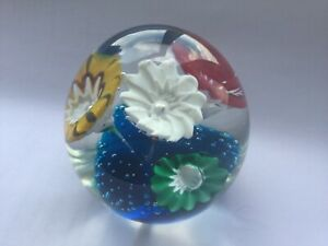 RARE VINTAGE MURANO TRUMPET FLOWER PAPERWEIGHT FRATELLI TOSO