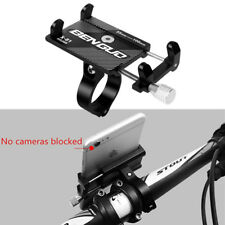 """1x Black CNC Motorcycle Phone Mount Holder for 3.5""""-6.5"""" iPhone XR 8 Samsung S9"""