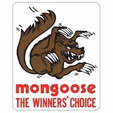 Mongoose Gold Stem / seat post decal - pair