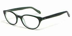 Calabria Vivid Designer Reading Glasses Ecru 'Daltrey' in Green ; Demo Lens