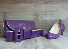 L.K Bennett patent leather purple clutch handbag, shoes size 38 and large belt