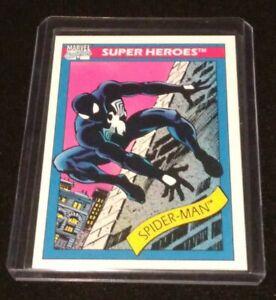 1990 Marvel Universe Impel Series 1 Black Suit Spider-Man #2