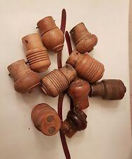 1 Douille voleuse en buis bois baîonnette restauration lampe au choix parmi 10