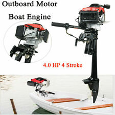 4 HP 4 Stroke Heavy Duty Outboard Motor 57CC Boat Engine w/ Air Cooling System