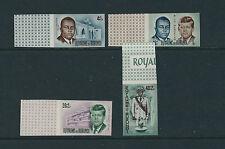 BURUNDI 1966 KENNEDY JFK (marginal IMPERF set of 4 complete) VF MNH