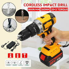 3IIN1 18V 260NM Cordless Brushless Impact Drill 13mm Chuck w/ 10000mAh Battery