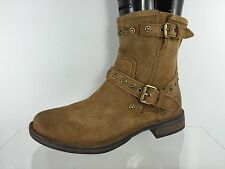 UGG Australia Womens Beige Leather Ankle Boots 6
