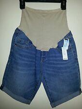 Old Navy Maternity Full-Panel Denim Bermuda Shorts Size 2 Reg, NWT