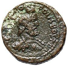 "Philip I AE30 of Arabia, Bostra ""Bust of Zeus Ammon Wearing Kalathos"" Rare VF"