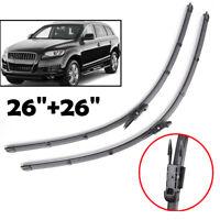 """Pair 26"""" 26"""" Windscreen Wiper Blades Front Window For Audi Q7 4L SUV 2006-2015"""
