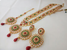 indian Fashion Jewelry long rani haar bollywood ethnic gold plated traditional