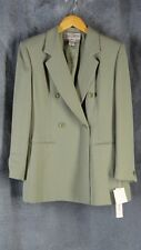 Jones New York NWT 6P Jacket 4P Skirt Suit Outfit NEW Sage Green