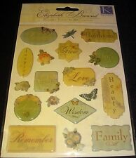 K & Company E. Brownd Clearly Yours Words Of Inspiration Stickers Scrapbook