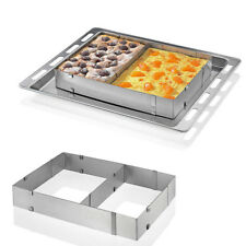 Rectangle Extendable Silver Stainless Steel Mousse Cake Mould Ring Baking Tools