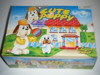 CUTE PUPPY Plastic Wind Up Toy Display Box (12 Total)