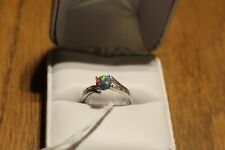 Size 7 Black Opal Ring