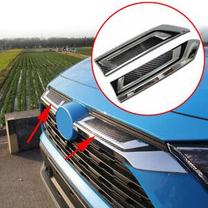 Accessories For Toyota RAV4 19-21 Carbon Fiber Front Center Grille Trim Strips