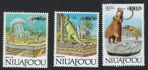 NIUAFO'OU:189 Evolution of the Earth 45s,60s,10p opt CANCELLED SG124a125b130aMNH