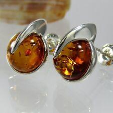 A370 Ohrringe Earrings 925 Sterling Silber Schmuck Bernstein Amber Modern