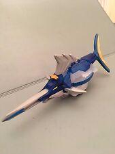 Power Rangers Super Samurai Azul Cristal tiburón Zord Megazord