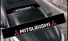 Mitsubishi Decals Windshield Banner Sun Strip, Sun Visor Stickers