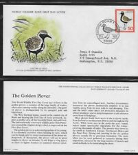GERMANY 1976 FIRST DAY COVER WORLD WILDLIFE FUND THE GOLDEN PLOVER BIRD + CARD