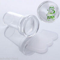 2.4cm Clear Marshmallow Silicone Jelly Stamper & Scraper  Nail Art Set
