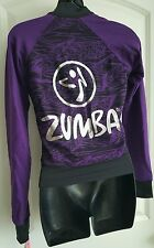 Zumba Jacket Zip-Up Cardigan Cotton Dark Purple Black XS $70 Retail NWT New