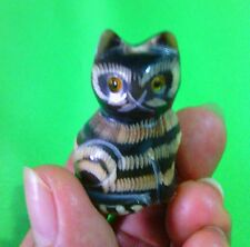 Buffalo Horn Carving Vintage Cat Figurines Handmade For Gifts Free Shipping