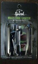 Spark Multi-Tool Refillable Windproof Lighter, Knife, Corkscrew, Bottle Opener