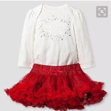Cat & Jack Baby Sparkle And Shine Bodysuit $ Tutu Set Nwt 6-9 Month