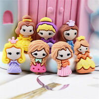 Random 2cm Resin Princess Girls Craft Cabochons Flatbacks Decors Mixed 10 pcs