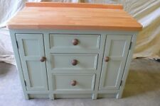 Solid Pine Shaker Kitchen Base Unit With Drawers Painted In Your Colour.
