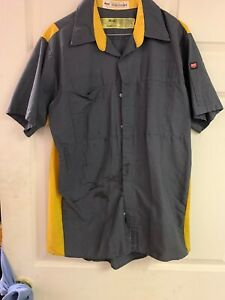 Red Kap Work Shirts Medium Short Sleeve. Nice Used. 8 For $20 Grey/Yellow