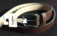 New Mens Goodfellow & Co  Brown Leather Belt Size XL 40-44