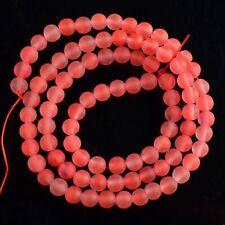 VB3574-h 4mm Matte Cherry Quartz Ball Loose Beads 15''