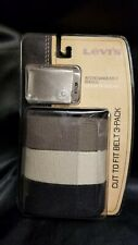 """Levi's Men's Casual Web Belts- Cut To Fit 3 Pack With Buckle up to 42""""  New!"""
