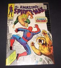 AMAZING SPIDER-MAN #57 VF- (7.5) 12¢ cover Marvel Comic | battles Ka-Zar!