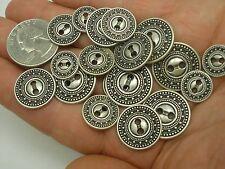 New Lots of Silver Metal Buttons Fancy Pattern sizes 13/16, 11/16, 5/8, 1/2  #SC
