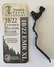 RUGER 10/22 XL EXTENDED MAGAZINE RELEASE LEVER ANODIZED BLACK - 10/22 EMR XL