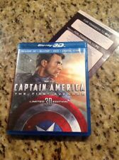 Captain America:The First Avenger 3D(Blu-ray/DVD,2011,3-Disc)Authentic US RELEAS