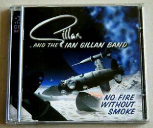 GILLAN - NO FIRE WITHOUT SMOKE 26 TRACK 2XCD ALBUM (2000) BRAND NEW & UNPLAYED