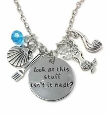 925 Silver Plt 'Look At This Stuff Isn'T It Neat?' The Little Mermaid Gift C
