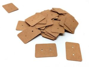100 pcs. Cardboard Paper Jewelry Earrings Rectangle Display Cards - 35mm x 25mm