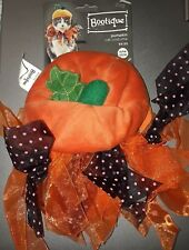 "PetCo Bootique""Pumpkin""Cat XS/S Dog Costume Halloween Hat Cap Ribbon Scarf O/S"