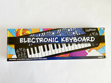 "Electronic Keyboard Batteries Operated 15.8 x 5"" / Blue Blocks Brand New"