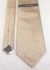 """DKNY Necktie, 4""""x58"""", 100% Silk, Gold, NEW w/tags"""