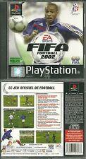 JEU PS1 - FIFA 2002 FOOTBALL BLEUS /COMPLET PLAYSTATION 1. 2 OU 3 / EN FRANCAIS